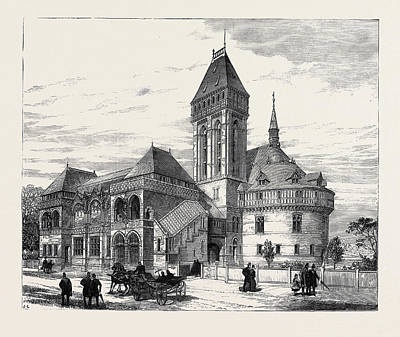 Stratford Drawing - The Shakespeare Memorial Theatre Stratford-on-avon 1879 by English School