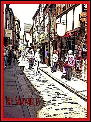 Photograph - The Shambles York by Joan-Violet Stretch