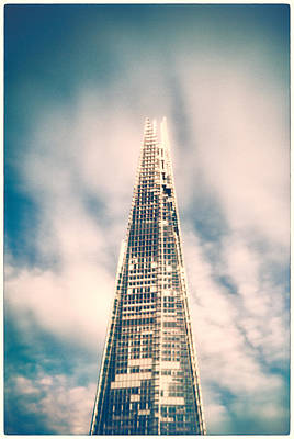 Photograph - The Shard - Holga Lens by Lenny Carter