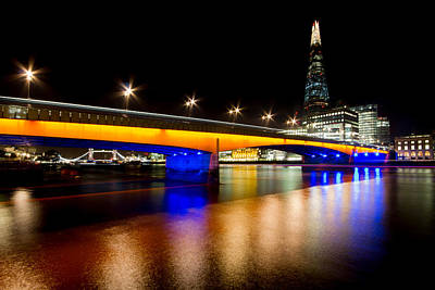 Photograph - The Shard And Blackfriars Bridge by Ken Brannen