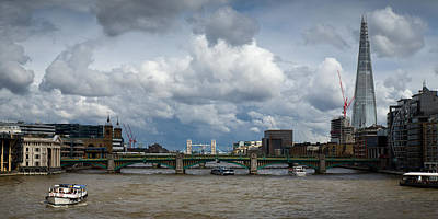 Renzo Piano Photograph - The Shard And Thames View by Gary Eason