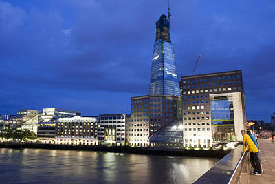 Photograph - The Shard At Night by Nathan Rupert