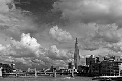 Renzo Piano Photograph - The Shard At Southwark Black And White by Gary Eason