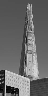 Photograph - The Shard From The River Black And White Version by Gary Eason