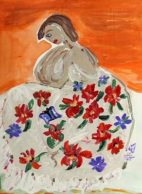 Mary Carol Art Drawing - The Shawl by Mary Carol Williams