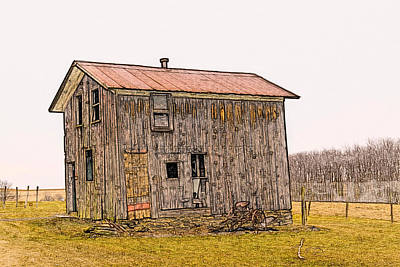 Days Go By Digital Art - The Shed by David Simons