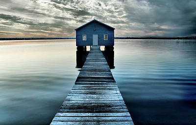 The Shed Upon The Water Art Print by Kym Clarke