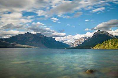 Photograph - The Sheen Of Lake Mcdonald by Greg Nyquist
