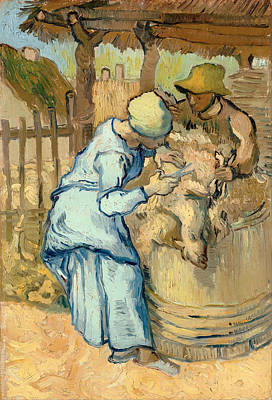 Barrel Painting - The Sheep Shearer  by Mountain Dreams