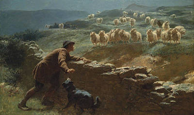Briton Riviere Painting - The Sheepstealer by Briton Riviere