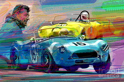 Cobra Painting - The Shelby Legacy by David Lloyd Glover