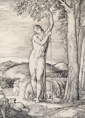 Thoughtful Photograph - The Shepherd, 1828 Engraving by George Richmond