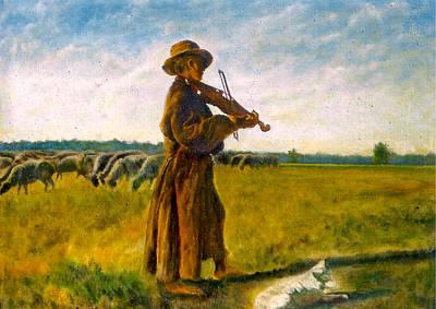 The Shepherd Art Print by Henryk Gorecki