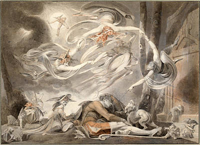 Drawing - The Shepherd's Dream by Henry Fuseli