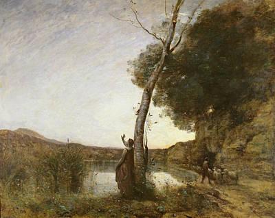 The Shepherds Star, 1864 Oil On Canvas Art Print by Jean Baptiste Camille Corot