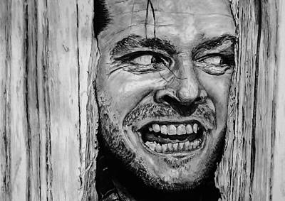 Jack Nicholson Drawing - The Shining Drawing  by Tony Orcutt