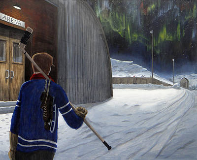 The Shinny Player Art Print by Dave Rheaume