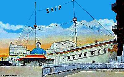 Venice Ca Painting - The Ship Cafe In Venice Ca In 1910 by Dwight Goss