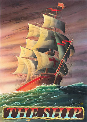 Painting - The Ship by Peter Green