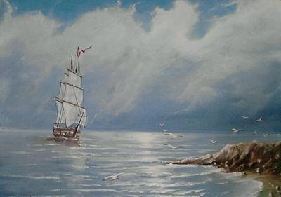 Painting - The Ship by Sergey Selivanov
