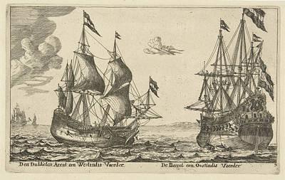 The Ships De Parel And De Dubbele Arend, Anonymous Art Print