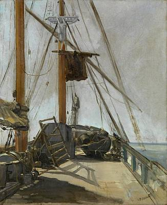 Victoria Painting - The Ship's Deck by Edouard Manet