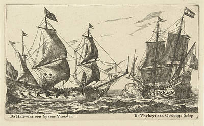 The Ships Freedom And The Greyhound, Anonymous Art Print