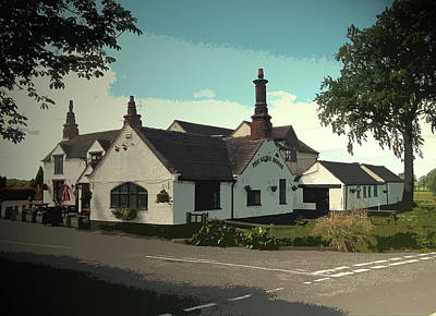 Horse Eye Drawing - The Shire Horse At Edlaston, Public House Featuring An by Litz Collection