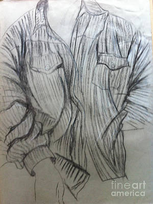 Drawing - The Shirt by Michelle Deyna-Hayward