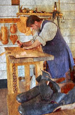 Mixed Media - The Shoe Cobbler by Bob Pardue