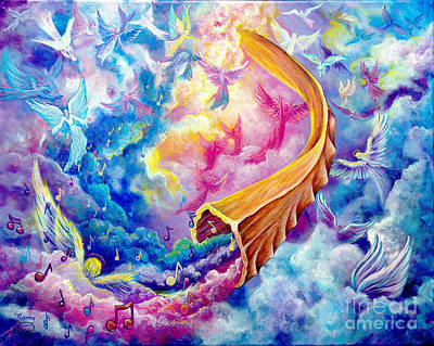 Painting - The Shofar by Nancy Cupp