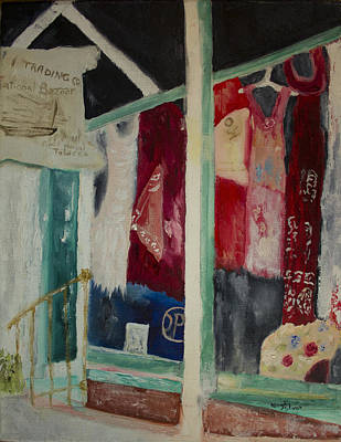 Painting - The Shop In New Paltz by Aleezah Selinger