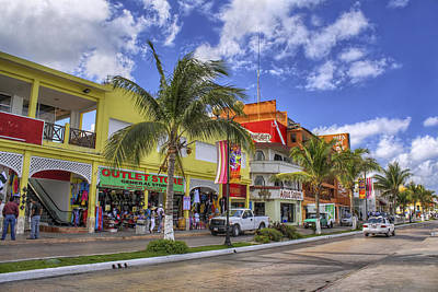 The Shops Of Cozumel Art Print