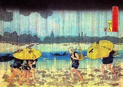 Painting - The Shore Of The Sumida River by Roberto Prusso