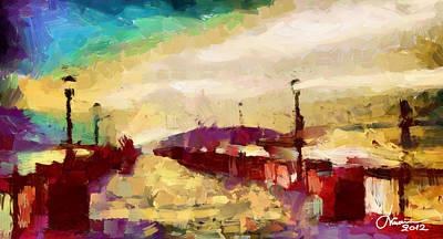 The Shore Tnm Art Print by Vincent DiNovici