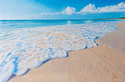 Painting - The Shores Of Grace Bay by Liz Zahara