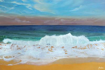 Bahamas Painting - The Shores Of Love Beach by Maritza Tynes
