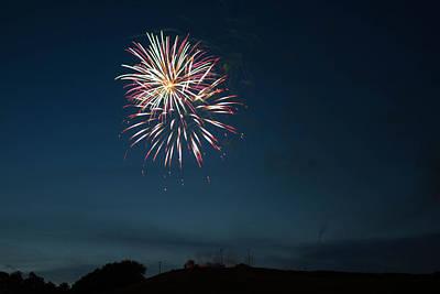 West Virginia Day Fireworks Show Begins Art Print by Howard Tenke