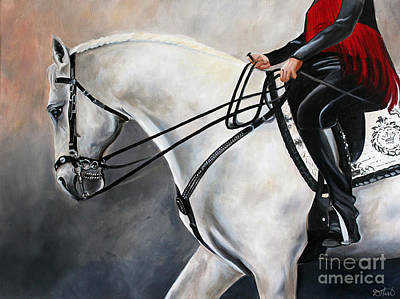 Painting - The Show Horse Stride by Debbie Hart