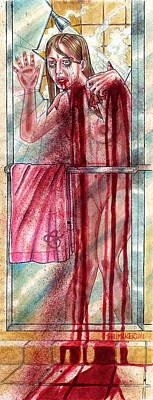 The Shower Scene Art Print
