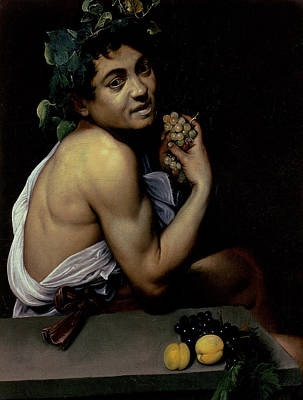 The Sick Bacchus, 1591  Art Print by Michelangelo Merisi da Caravaggio