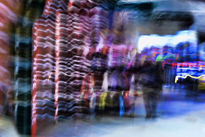 Photograph - The Sidewalk Shop - New York City abstract urban life by Vlad Bubnov