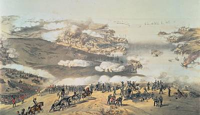 Canon Drawing - The Siege Of Sevastopol by Vincent Brooks