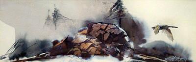The Sierras Art Print by Ed  Heaton