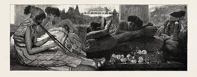 Alma Drawing - The Siesta, From The Painting, In The Exhibition by Alma-tadema, Lawrence (1836?1912), English