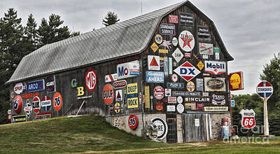 Art Print featuring the photograph The Sign Barn by Ricky L Jones