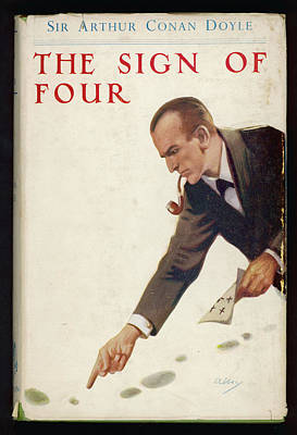 Book Cover Drawing - The Sign Of Four  Holmes, Pipe by Mary Evans Picture Library