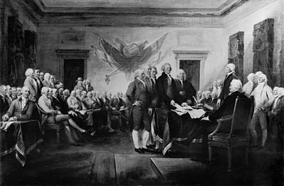 The Signing Of The Declaration Of Independence Art Print by Bill Cannon