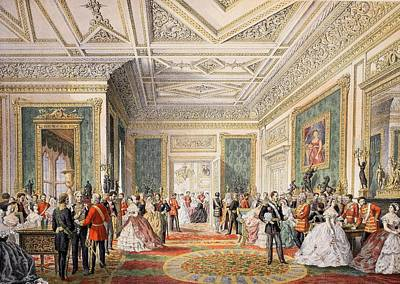 Royal Wedding Drawing - The Signing Of The Marriage Attestation by English School