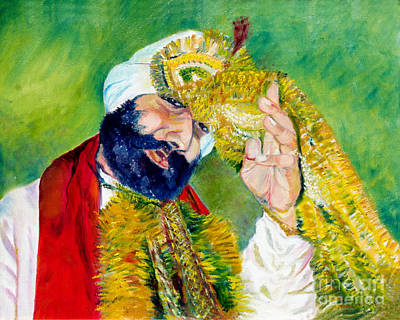 Indian Wedding Painting - The Sikh Groom by Sarabjit Singh